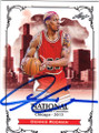 DENNIS RODMAN CHICAGO BULLS AUTOGRAPHED BASKETBALL CARD #21716B