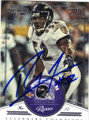 RAY LEWIS BALTIMORE RAVENS AUTOGRAPHED FOOTBALL CARD #21716C