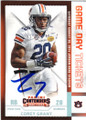 COREY GRANT AUBURN TIGERS AUTOGRAPHED ROOKIE FOOTBALL CARD #21716D