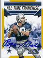 ROGER STAUBACH DALLAS COWBOYS AUTOGRAPHED FOOTBALL CARD #21716F