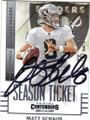 MATT SCHAUB OAKLAND RAIDERS AUTOGRAPHED FOOTBALL CARD #21716G