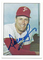 DALLAS GREEN PHILADELPHIA PHILLIES AUTOGRAPHED VINTAGE BASEBALL CARD #21816A
