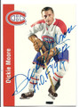 DICKIE MOORE MONTREAL CANADIENS AUTOGRAPHED HOCKEY CARD #21816B