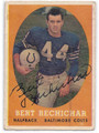 BERT RECHICHAR BALTIMORE COLTS AUTOGRAPHED VINTAGE FOOTBALL CARD #21816C