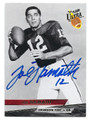 JOE NAMATH ALABAMA CRIMSON TIDE AUTOGRAPHED FOOTBALL CARD #21816i