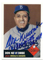 DON NEWCOMBE BROOKLYN DODGERS AUTOGRAPHED BASEBALL CARD #21816J