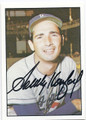 SANDY KOUFAX LOS ANGELES DODGERS AUTOGRAPHED BASEBALL CARD #21916F