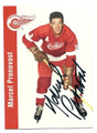MARCEL PRONOVOST DETROIT RED WINGS AUTOGRAPHED HOCKEY CARD #21916J