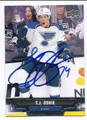TJ OSHIE ST LOUIS BLUES AUTOGRAPHED HOCKEY CARD #22216J