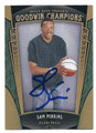 SAM PERKINS NORTH CAROLINA TAR HEELS AUTOGRAPHED BASKETBALL CARD #22216K