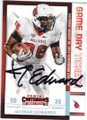 JAHWAN EDWARDS BALL STATE CARDINALS AUTOGRAPHED ROOKIE FOOTBALL CARD #22416E