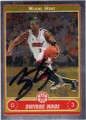 DWYANE WADE MIAMI HEAT AUTOGRAPHED BASKETBALL CARD #22416F