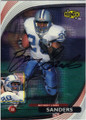 BARRY SANDERS DETROIT LIONS AUTOGRAPHED FOOTBALL CARD #22416L