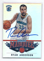 RYAN ANDERSON NEW ORLEANS HORNETS AUTOGRAPHED BASKETBALL CARD #22516K