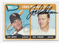 KEN BERRY & JOEL GIBSON CHICAGO WHITE SOX DOUBLE AUTOGRAPHED VINTAGE ROOKIE BASEBALL CARD #22516L