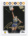 RICK BARRY GOLDEN STATE WARRIORS AUTOGRAPHED BASKETBALL CARD #22616C