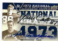 DAVE CASPER & ARA PARSEGHIAN NOTRE DAME FIGHTING IRISH DOUBLE AUTOGRAPHED FOOTBALL CARD #22616E