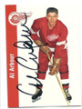 AL ARBOUR DETROIT RED WINGS AUTOGRAPHED HOCKEY CARD #22616K
