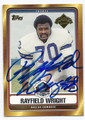 RAYFIELD WRIGHT DALLAS COWBOYS AUTOGRAPHED FOOTBALL CARD #22716C