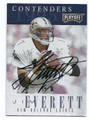 JIM EVERETT NEW ORLEANS SAINTS AUTOGRAPHED FOOTBALL CARD #22716G