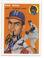 BOB BUHL MILWAUKEE BRAVES AUTOGRAPHED BASEBALL CARD #22716H