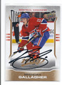 BRENDAN GALLAGHER MONTREAL CANADIENS AUTOGRAPHED HOCKEY CARD #22816B