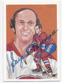 JACQUES LAPERRIERE MONTREAL CANADIENS AUTOGRAPHED VINTAGE HALL OF FAME HOCKEY CARD #22816D
