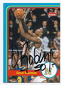 DAVID ROBINSON NAVY MIDSHIPMEN AUTOGRAPHED BASKETBALL CARD #30416B