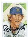 ROBIN YOUNT MILWAUKEE BREWERS AUTOGRAPHED BASEBALL CARD #30416E