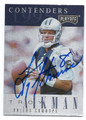 TROY AIKMAN DALLAS COWBOYS AUTOGRAPHED FOOTBALL CARD #30616A