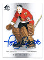 TONY ESPOSITO CHICAGO BLACKHAWKS AUTOGRAPHED HOCKEY CARD #30616B