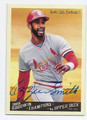 OZZIE SMITH ST LOUIS CARDINALS AUTOGRAPHED BASEBALL CARD #30616D