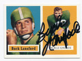 BUCK LANSFORD PHILADELPHIA EAGLES AUTOGRAPHED FOOTBALL CARD #30716B