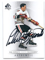 PHIL ESPOSITO CHICAGO BLACKHAWKS AUTOGRAPHED HOCKEY CARD #30716E