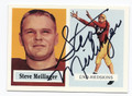 STEVE MEILINGER WASHINGTON REDSKINS AUTOGRAPHED FOOTBALL CARD #30716F