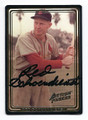 "AL ""RED"" SCHOENDIENST ST LOUIS CARDINALS AUTOGRAPHED BASEBALL CARD #30816E"