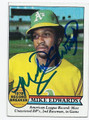 MIKE EDWARDS OAKLAND ATHLETICS AUTOGRAPHED VINTAGE BASEBALL CARD #31116B