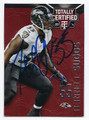 TERRELL SUGGS BALTIMORE RAVENS AUTOGRAPHED & NUMMBERED FOOTBALL CARD #31116D