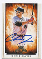 CHRIS DAVIS BALTIMORE ORIOLES AUTOGRAPHED BASEBALL CARD #31216A