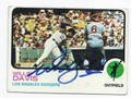 WILLIE DAVIS LOS ANGELES DODGERS AUTOGRAPHED VINTAGE BASEBALL CARD #31216G