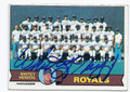 WHITEY HERZOG KANSAS CITY ROYALS AUTOGRAPHED VINTAGE BASEBALL CARD #31316A