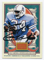EARL CAMPBELL HOUSTON OILERS AUTOGRAPHED FOOTBALL CARD #31316D