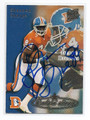 SHANNON SHARPE DENVER BRONCOS AUTOGRAPHED FOOTBALL CARD #31316H