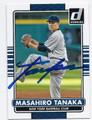 MASAHIRO TANAKA NEW YORK YANKEES AUTOGRAPHED BASEBALL CARD #31416A