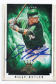 BILLY BUTLER OAKLAND ATHLETICS AUTOGRAPHED BASEBALL CARD #31416C