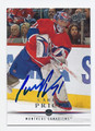 CAREY PRICE MONTREAL CANADIENS AUTOGRAPHED HOCKEY CARD #31616F