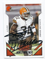DONTE WHITNER CLEVELAND BROWNS AUTOGRAPHED FOOTBALL CARD #31616H
