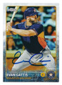 EVAN GATTIS HOUSTON ASTROS AUTOGRAPHED BASEBALL CARD #31716A