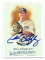 CHAD BILLINGSLEY LOS ANGELES DODGERS AUTOGRAPHED BASEBALL CARD #31716C