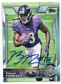 BRESHAD PERRIMAN BALTIMORE RAVENS AUTOGRAPHED ROOKIE FOOTBALL CARD #31816D